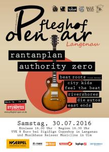 Pfleghof Open Air 2016 Plakat